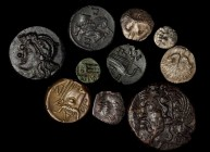 BOSPOROS. Pantikapaion. Group of Silver & Bronze Denominations (10 Pieces), ca. 5th-4th Century B.C. Grade Range: NEARLY VERY FINE to EXTREMELY FINE.