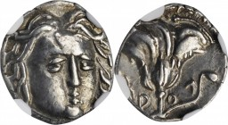 CARIA. Islands off Caria. Rhodes. AR Hemidrachm, ca. 205-190 B.C. NGC EF.