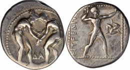 PAMPHYLIA. Aspendos. AR Stater (10.98 gms), ca. 380/75-330/25 B.C. CHOICE VERY FINE.
