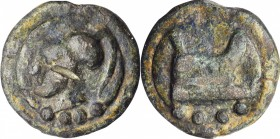 ROMAN REPUBLIC. Anonymous. AE Aes Grave Triens (92.37 gms), Rome Mint, ca. 225-217 B.C. VERY FINE.