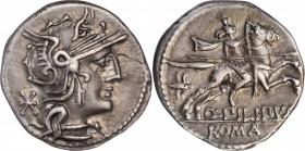 ROMAN REPUBLIC. Q. Philippus. AR Denarius (3.31 gms), Rome Mint, 129 B.C. EXTREMELY FINE.