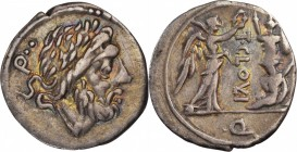 ROMAN REPUBLIC. T. Cloelius. AR Quinarius (1.85 gms), Rome Mint, 98 B.C. CHOICE VERY FINE.