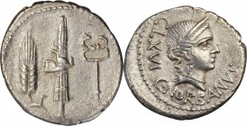 ROMAN REPUBLIC. C. Norbanus. AR Denarius (3.78 gms), Rome Mint, 83 B.C. CHOICE VERY FINE.