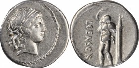 ROMAN REPUBLIC. L. Censorinus. AR Denarius (3.77 gms), Rome Mint, 82 B.C. NEARLY EXTREMELY FINE.