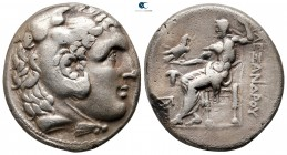 Kings of Macedon. Pella. Antigonos II Gonatas 277-239 BC. In the name and types of Alexander III of Macedon. Struck circa 276-274 BC. Tetradrachm AR