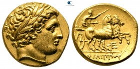Kings of Macedon. Pella. Philip II of Macedon 359-336 BC. Struck circa 340-328 BC. Stater AV