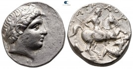 Kings of Paeonia. Uncertain Paeonian mint. Patraos circa 335-315 BC. Tetradrachm AR