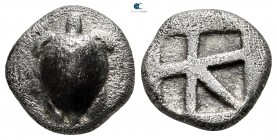 Islands off Attica. Aegina circa 480-457 BC. Hemidrachm AR