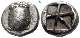 Islands off Attica. Aegina circa 456-431 BC. Stater AR
