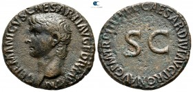 Germanicus AD 37-41.  Died AD 19, Struck under Gaius (Caligula), AD 40-41. Rome. As Æ