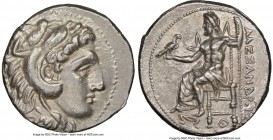 MACEDONIAN KINGDOM. Alexander III the Great (336-323 BC). AR tetradrachm (27mm, 17.01 gm, 10h). NGC Choice AU 5/5 - 3/5. Lifetime or early posthumous ...