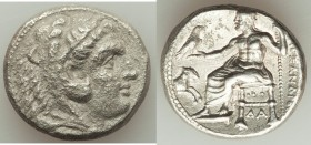 MACEDONIAN KINGDOM. Alexander III the Great (336-323 BC). AR tetradrachm (24mm, 16.43 gm, 11h). VF, porosity. Lifetime or early posthumous issue of Da...