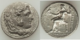 MACEDONIAN KINGDOM. Alexander III the Great (336-323 BC). AR tetradrachm (26mm, 16.68 gm, 8h). VF, porosity. Early posthumous issue of 'Babylon', ca. ...