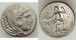 MACEDONIAN KINGDOM. Alexander III the Great (336-323 BC). AR tetradrachm (26mm, 3h). VF, porosity. Early posthumous issue of 'Amphipolis', by Antipate...