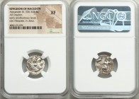 MACEDONIAN KINGDOM. Alexander III the Great (336-323 BC). AR drachm (18mm, 12h). NGC XF. Early posthumous issue of Abydus (?), ca. 310-301 BC. Head of...