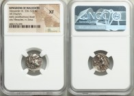 MACEDONIAN KINGDOM. Alexander III the Great (336-323 BC). AR drachm (17mm, 11h). NGC XF. Early posthumous issues of Lampsacus, under Philip III Arrhid...