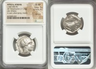 ATTICA. Athens. Ca. 440-404 BC. AR tetradrachm (23mm, 17.14 gm, 7h). NGC Choice XF 5/5 - 4/5, Full Crest. Mid-mass coinage issue. Head of Athena right...
