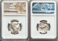 ATTICA. Athens. Ca. 440-404 BC. AR tetradrachm (22mm, 17.14 gm, 1h). NGC Choice XF 3/5 - 3/5. Mid-mass coinage issue. Head of Athena right, wearing cr...
