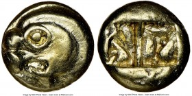 IONIA. Uncertain mint. Ca. 600-550 BC. EL sixth-stater or hecte (10mm, 2.33 gm). NGC Choice XF 5/5 - 4/5. Lydo-Milesian standard. Head of archaic seal...