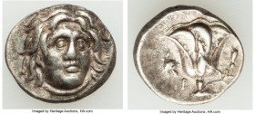 CARIAN ISLANDS. Rhodes. Ca. 275-250 BC. AR drachm (15mm, 3.28 gm, 12h). XF. Erasicles, magistrate. Head of Helios facing, turned slightly right, hair ...