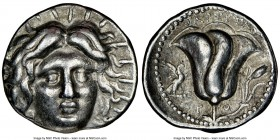 CARIAN ISLANDS. Rhodes. Ca. 230-205 BC. AR tetradrachm (26mm, 1h). NGC VF. Pharsetas, magistrate. Radiate head of Helios facing, turned slightly right...