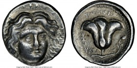 CARIAN ISLANDS. Rhodes. Ca. 230-205 BC. AR tetradrachm (24mm, 1h). NGC VF. Ca. mid-late 220s, Eucrates, magistrate. Radiate head of Helios facing, tur...