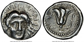 CARIAN ISLANDS. Rhodes. Ca. 230-205 BC. AR tetradrachm (25mm, 11h). NGC Fine. Ameinias, magistrate. Radiate facing head of Helios, turned slightly rig...