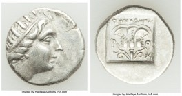 CARIAN ISLANDS. Rhodes. Ca. early 2nd century BC. AR drachm (15mm, 2.72 gm, 11h). VF. 'Plinthophoric' coinage, ca. 188-170 BC, Menodoros, magistrate. ...