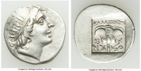 CARIAN ISLANDS. Rhodes. Ca. early 1st century BC. AR drachm (16mm, 2.19 gm, 10h). XF. 'Plinthophoric' coinage, ca. 88-84 BC, Kallixeinos, magistrate. ...