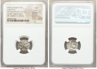 LYCIAN LEAGUE. Masicytes. Ca. 48-20 BC. AR hemidrachm (15mm, 2.01 gm, 1h). NGC MS 5/5 - 5/5. Series 1. Laureate head of Apollo right; Λ-Y below / M-A,...