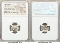 LYCIAN LEAGUE. Masicytes. Ca. 48-20 BC. AR hemidrachm (17mm, 1.76 gm, 12h). NGC MS 5/5 - 3/5. Series 3. Laureate head of Apollo right; Λ-Y below / M-A...