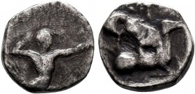 CYPRUS, Kition. Baalmelek II. Circa 425-400 BC. AR RRR  Condition: Very Fine  Weight: 2.7 gr Diameter: 13 mm