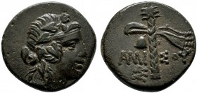 PONTOS. Amisos. Ae (85-65 BC).   Condition: Very Fine  Weight: 3.8 gr Diameter:16 mm