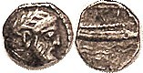 ARADOS, Obol, 380-350 BC, Head of Deity r/Galley over waves, Phoenician lgnd above, sim S5973; VF, nrly centered with hd complete, decent metal with d...
