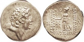 Ariarathes IX, 101-87 BC, Drachm, Bust r/Athena stg l, Year 14, S7299var; EF/AEF, centered on broad flan, good metal with lt tone, choice detailed por...