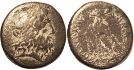 Ptolemy II, Æ35, Zeus Ammon head r/Eagle l, club at left; AVF/F, centered, dark patina with strong earthen hilighting, obv bold & attractive, rev some...