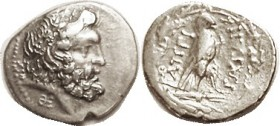 EPEIROS, Republic, Drachm, 232-168 BC, Zeus head r, Sigma-I left, Theta-E below (rare variety)/Eagle stg r in wreath, as S1996 (£90); VF/F+, centered ...