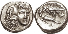 ISTROS, Stater or Drachm, 400-350 BC, Two facg hds, left inverted/Eagle atop dolphin, A below, as S1669 (£225); Nice EF, good centering & strike with ...