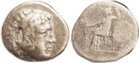-- Tet, Posthumous, of Phaselis, c.209-208 BC, Pr.2848, with Seleukid anchor c/mk behind ear; F+/AF, c/mk VF & fully clear; decent metal, almost invis...