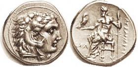 -- Drachm, Uncertain mint in Asia Minor, NA at left (N retrograde), Pr. 2733; EF, centered & well struck, good metal, very nice, and rare.