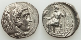MACEDONIAN KINGDOM. Alexander III the Great (336-323 BC). AR tetradrachm (26mm, 16.50 gm, 12h). Choice XF. Early posthumous issue of Sidon, uncertain ...