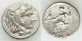 MACEDONIAN KINGDOM. Alexander III the Great (336-323 BC). AR tetradrachm (26mm, 15.96 gm, 6h). AU, porosity. Late lifetime or early posthumous issue o...