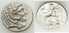MACEDONIAN KINGDOM. Alexander III the Great (336-323 BC). AR tetradrachm (27mm, 16.48 gm, 10h). AU, porosity. Late lifetime to early posthumous issue ...