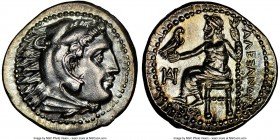 MACEDONIAN KINGDOM. Alexander III the Great (336-323 BC). AR drachm (18mm, 4.29 gm, 12h). NGC MS 5/5 - 3/5. Lifetime issue of Miletus, ca. 325-323 BC....