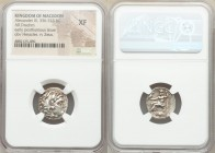 MACEDONIAN KINGDOM. Alexander III the Great (336-323 BC). AR drachm (18mm, 12h). NGC XF. Early posthumous issue of Abydus, ca. 310-301 BC. Head of Her...