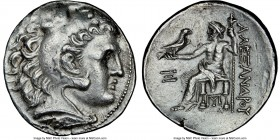 MACEDONIAN KINGDOM. Antigonus II Gonatas (277-239 BC). AR tetradrachm (28mm, 11h). NGC AU brushed. Late posthumous issue of Pella or Amphipolis, in th...