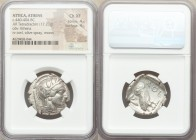 ATTICA. Athens. Ca. 440-404 BC. AR tetradrachm (25mm, 17.20 gm, 10h). NGC Choice XF 4/5 - 4/5. Mid-mass coinage issue. Head of Athena right, wearing c...
