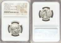 ATTICA. Athens. Ca. 440-404 BC. AR tetradrachm (24mm, 17.13 gm, 5h). NGC XF 5/5 - 5/5. Mid-mass coinage issue. Head of Athena right, wearing crested A...