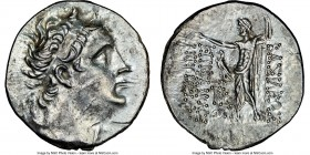BITHYNIAN KINGDOM. Nicomedes III Euergetes (ca. 127-94 BC). AR tetradrachm (33mm, 11h). NGC AU. Dated Bithynian Era Year 199 (99/8 BC). Diademed head ...