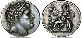 PERGAMENE KINGDOM. Attalus I (ca. 241-197 BC). AR tetradrachm (30mm, 17.00 gm, 12h). NGC Choice XF 4/5 - 4/5. Pergamum, ca. 241-235 BC. Laureate head ...